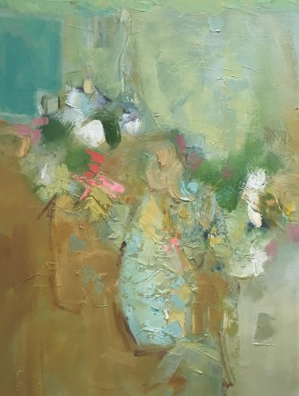 """Elsa Taylor SUMMER STILL LIFE Oil on canvas 24"""" x 20"""""""