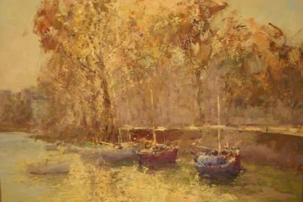 "John Tiplady  BELLE ISLE - FRANCE  Oil on canvas  18"" x 23"""