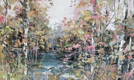 Paul Treasure  SILENT RIVER  Oil on canvas  65 X 100