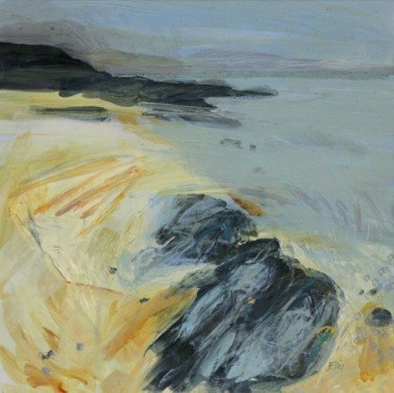 Jo Ellis  LAPPING TIDE I  Mixed media  26 x 26cm