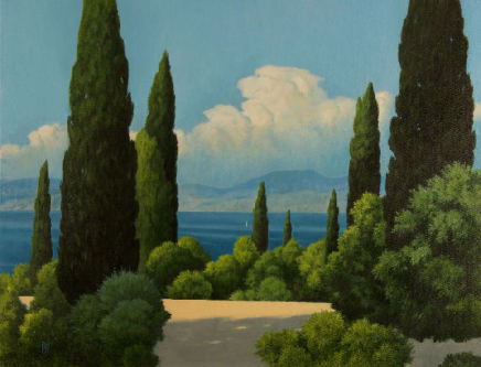 "Michael Bennallack Hart  CLOUD CORFU II AFTERNOON  Oil on canvas  26"" X 34"""