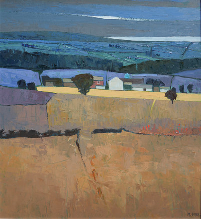 "Mary Pym  NEAR SALISBURY  Oil on board  24"" X 24"""