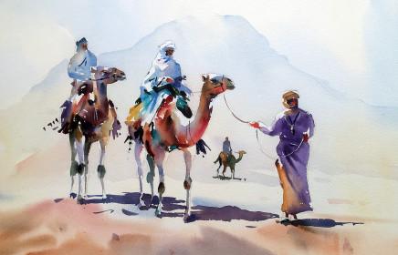 """Jake Winkle DESERT DWELLERS Watercolour 13"""" x 18"""""""