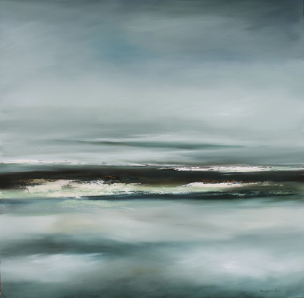 """Karen Laurence-Rowe THE DISAPPEARING Oil on Canvas 44"""" x 44"""""""