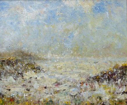 "David Walsh ATLANTIC OCEAN, ACHILL ISLAND, MAYO, IRELAND Oil on canvas 24"" X 28"""