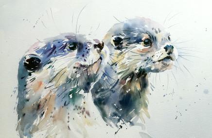 """Jake Winkle TWINS Watercolour 13"""" X 18"""""""