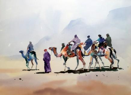 """Jake Winkle CAMEL TRAIL Watercolour 20"""" X 28"""""""
