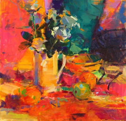 "Peter Graham  CLASSICAL BOUQUET  Oil on canvas  25"" X 26"""