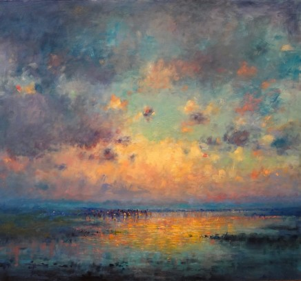 "Norman Smith  EVENING CUMULUS  Oil on Board  25"" X 27"""