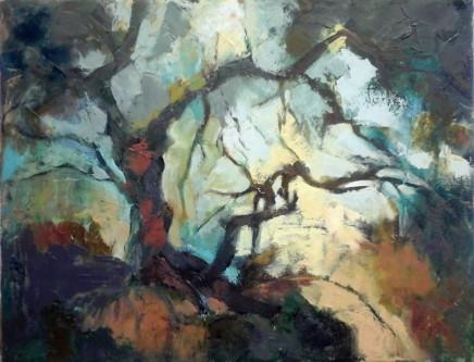 """Carol Sproston  MAGNOLIA  Oil on canvas  18"""" X 14"""""""
