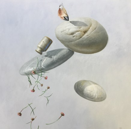 """Bryan Hanlon CLIFF WALK Acrylic on Canvas 32"""" X 32"""""""