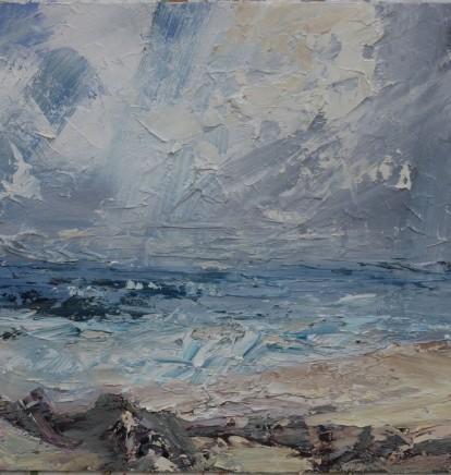 "Paul Treasure  SELSEY  Oil on canvas  20"" X 20"""