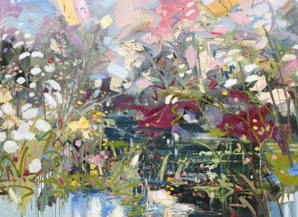 Paul Treasure POND LIFE Oil on canvas 120 X 180cm