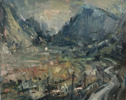 """Gareth Parry FINE MORNING OGWEN VALLEY, SNOWDONIA Oil on canvas 20""""X24"""""""