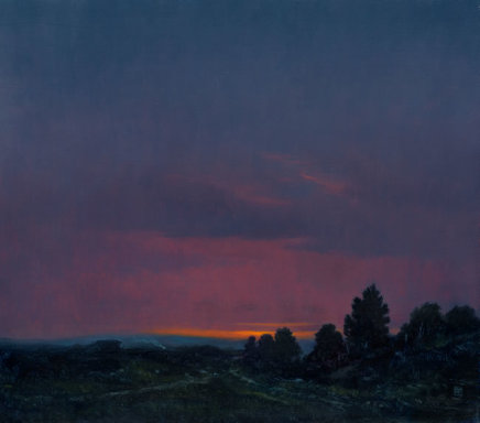 """Michael Bennallack Hart THE NEW FOREST Oil on canvas 16"""" x 18"""""""
