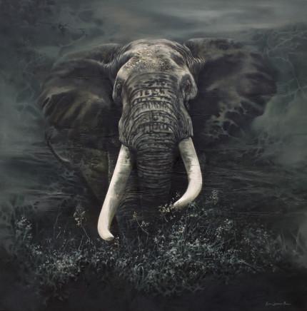 "Karen Laurence-Rowe LUGARD Oil on Canvas 40"" X 40"""