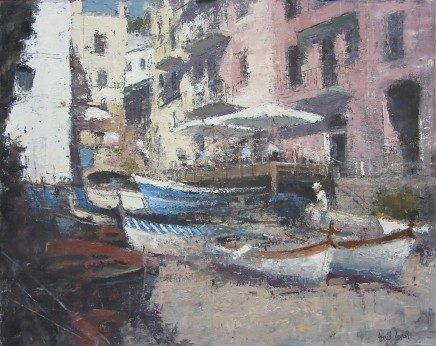 "Gerald Green  THE SLIPWAY RIO MAGGIORE ITALY  Oil  18"" X 22.5"""