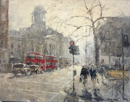 "Gerald Green OCTOBER LIGHT EUSTON SQUARE LONDON Oil 14"" X 18"""