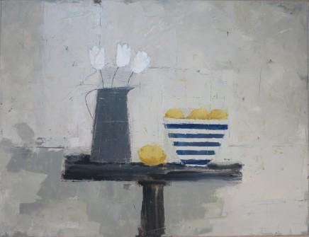 """Ann Armitage STILL LIFE WITH LEMONS Oil on canvas 26"""" x 34"""""""