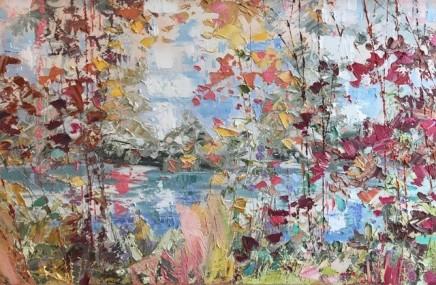 "Paul Treasure KINGFISHER BLUE Oil on canvas 26"" x 39"""