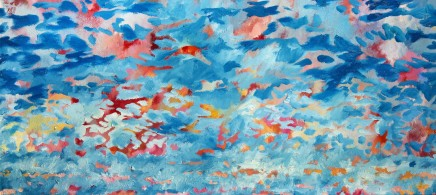 "Jeremy Houghton HEAVENS ABOVE Oil 27.5"" x 55"""