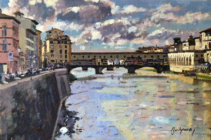 Bruce Yardley  PONTE VECCHIO  Oil  41 X 61cm