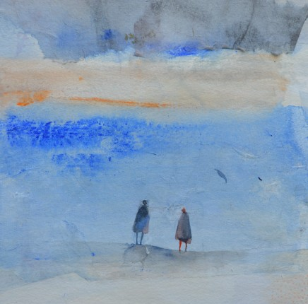"""Julie Collins  ANOTHER LIFE  Watercolor and acrylic on paper  11"""" x 11"""""""