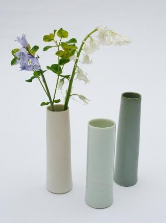 Robyn Hardyman, Three cylinder vases, 2020