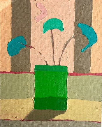 Sam Wadsworth, Geranium with Turquoise, 2016