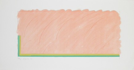 Richard Smith, Horizon V (Peach, Yellow and green), 1970