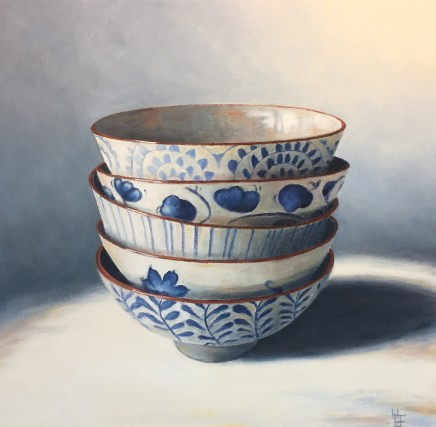 Henrietta Lawson Johnston, Blue and White Bowls, October 2019