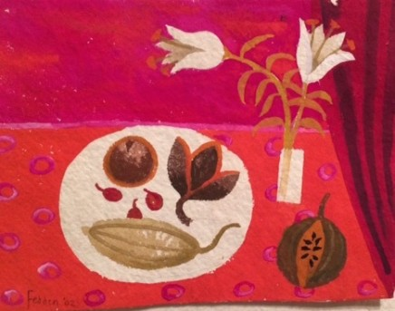 Still life with lilies and pomegranate, 1982