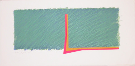 Richard Smith, Horizon III (Green, pink, yellow and ochre), 1970