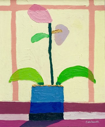 Sam Wadsworth, Orchid Green Leaves, 2017