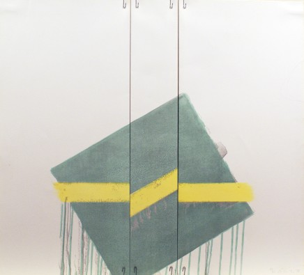 Richard Smith (1931-2016), Two of a Kind IIb (yellow line on green at angle), 1978