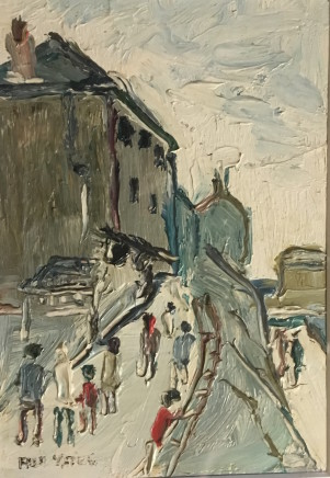 Fred Yates, Figures on a Street