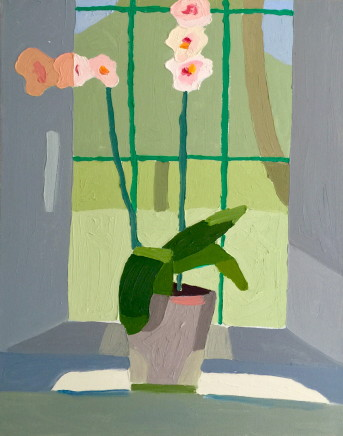 Sam Wadsworth, Orchid in Green Window, 2015