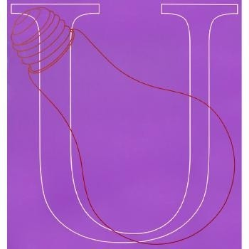 Michael Craig-Martin, U, from Alphabet