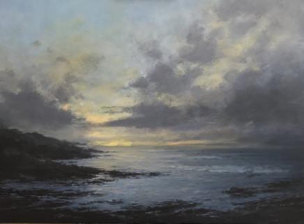 Antony Hinchliffe, Porthleven at dusk, 2020
