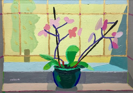 Sam Wadsworth, Orchid in Green Bowl, 2017