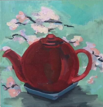 Nancy Cadogan, Red teapot, 2020