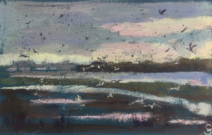 Francesca Shakespeare, Port Meadow with Birds, 2020