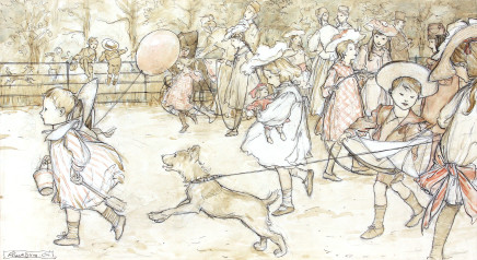 Arthur Rackham, J M Barrie, Peter Pan in Kensington Gardens, 1906