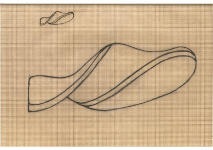 Naum Gabo, Study for a Carving (D88), c.1931