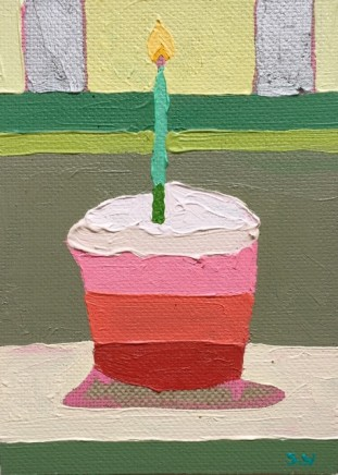 Sam Wadsworth, A Cake for Hughie - green candle, 2017