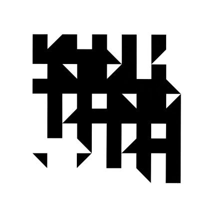 Kathleen Hyndman, Straight Line Rotation Black on White, 1986