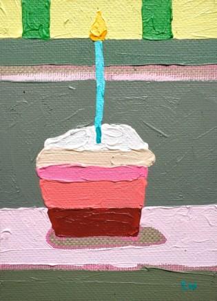 Sam Wadsworth, A Cake for Hughie - blue candle, 2017