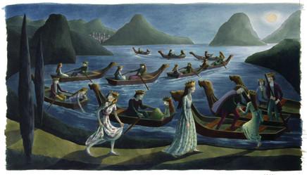 Emma Chichester Clark, The Twelve Dancing Princesses, 2002