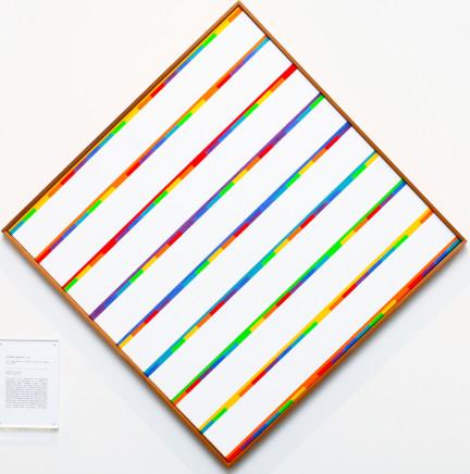 Kathleen Hyndman, Six Discontinuous and One Continuous Green Line, 1985