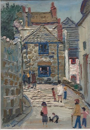Fred Yates, Figures in a Cornish Street